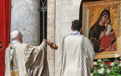 La Madonna dell'Elemosina di Biancavilla a Roma per la canonizzazione di Madre Teresa. Emozioni e sentimenti di uno storico evento