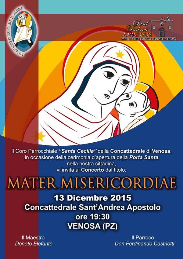 Locandina concerto Concattedrale Sant'Andrea Venosa