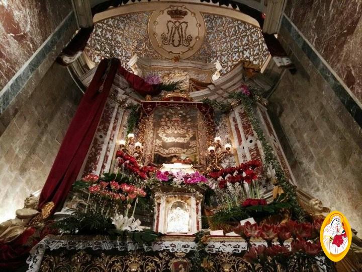 Luogo della reposizione eucaristica presso l'altare della Madonna dell'Elemosina