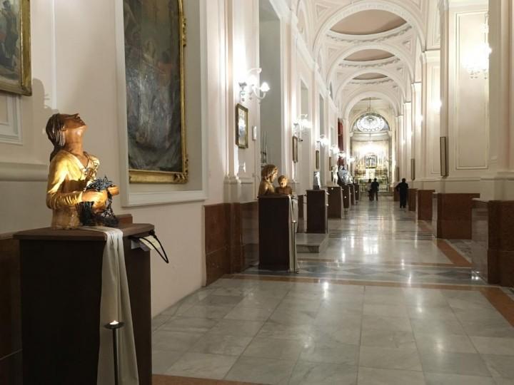 Inaugurazione della Mostra di sculture sulle Opere di Misericordia
