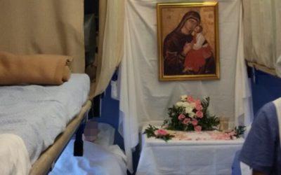 La Madonna dell'Elemosina sul Treno Bianco per Lourdes