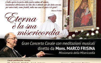 Gran Concerto Corale diretto da Mons. MARCO FRISINA sabato 1° ottobre 2016